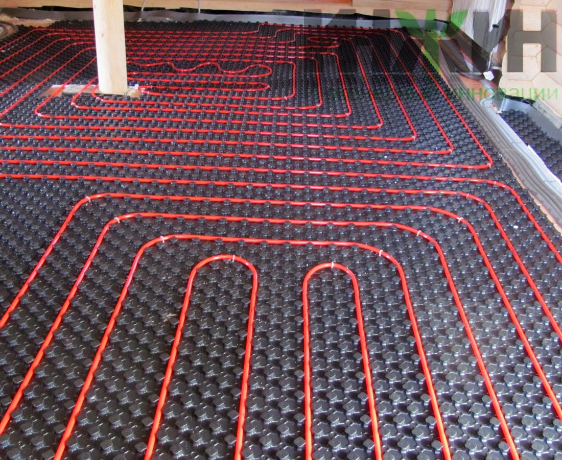 Укладка плитки на теплый пол водяной