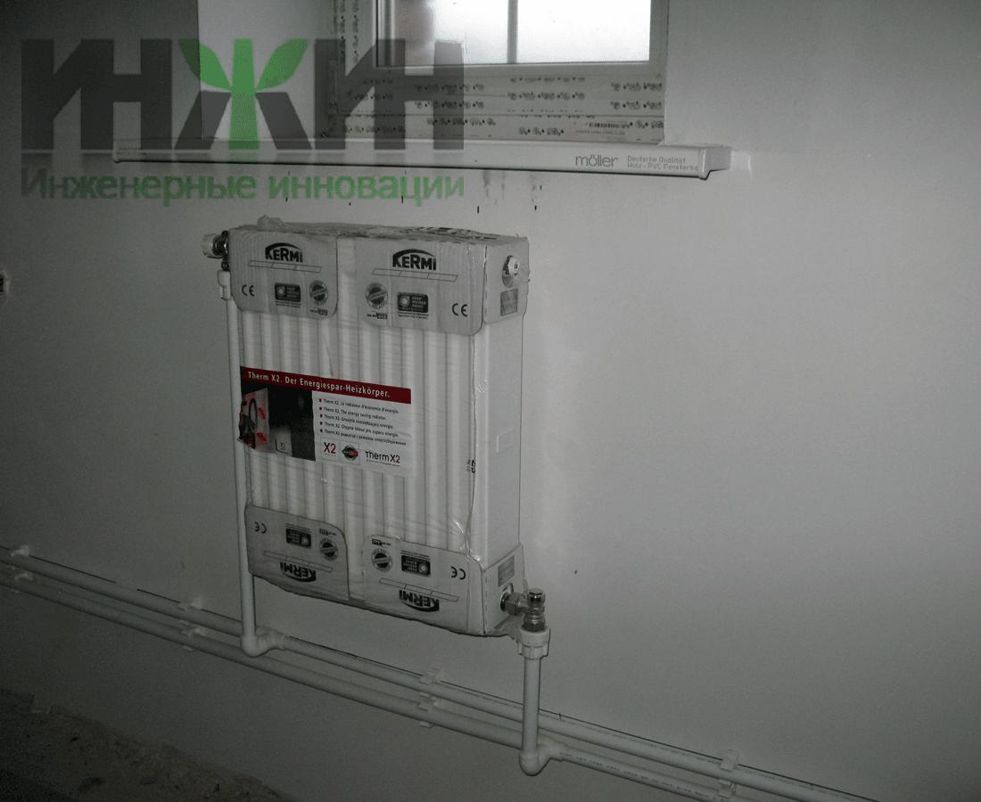 Установка радиаторов отопления на даче водяного отопления