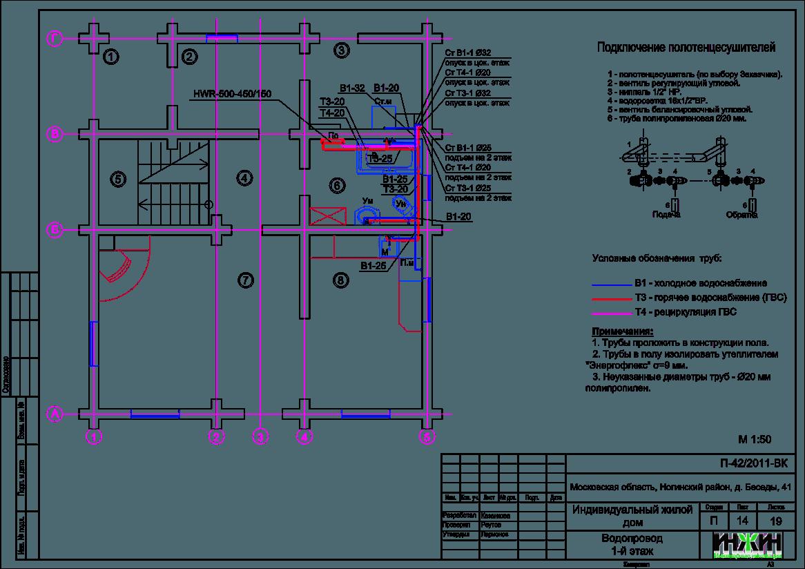 Водопровод и канализация в частном доме своими руками примеры чертежи 69