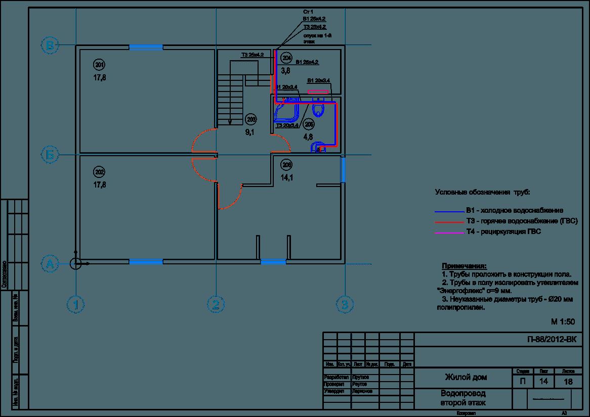Водопровод и канализация в частном доме своими руками примеры чертежи 64
